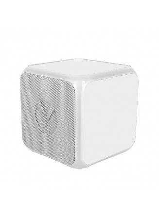 Coluna Altavoz Bluetooth Cubo YZSY Flashy White (3W)