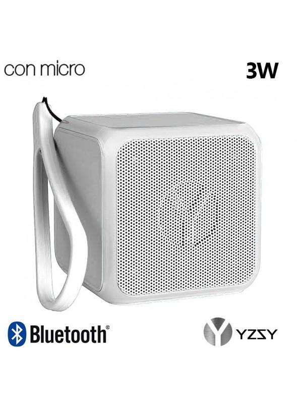 Coluna Altavoz Bluetooth Cubo YZSY Flashy White (3W)