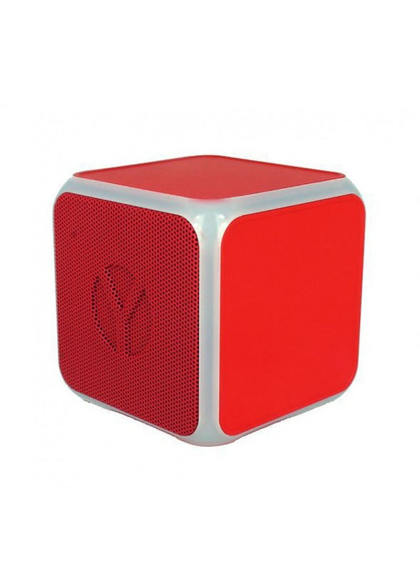 Coluna Altavoz Bluetooth Cubo YZSY Flashy Red (3W)