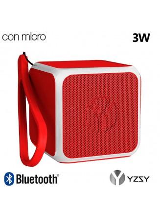 Coluna Altavoz Bluetooth Cubo YZSY Flashy Red (3W)