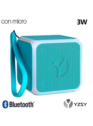 Coluna Altavoz Bluetooth Cubo YZSY Flashy Blue (3W)