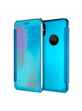 Capa Flip Cover Clear View para Apple iPhone X / iPhone Xs Azul