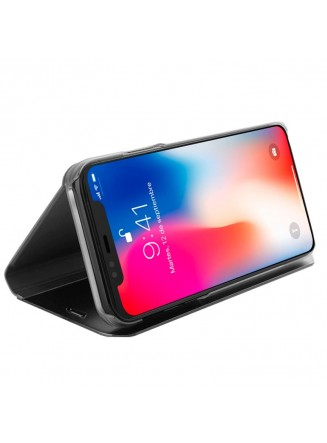 Capa Flip Cover Clear View para Apple iPhone X / iPhone Xs Negro